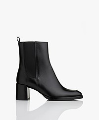 Filippa K Florence Chelsea Ankle Boots with Heel - Black