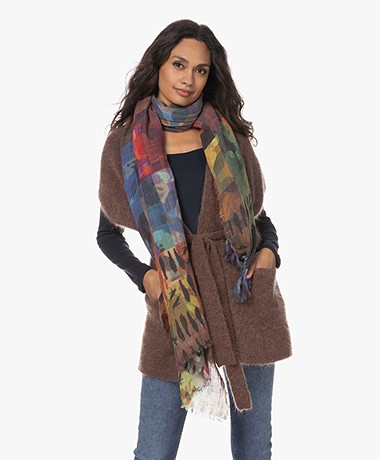 LaSalle Wool Mix Printed Scarf - Collage