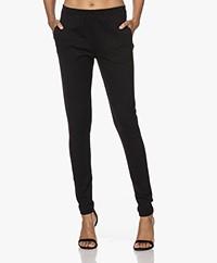 by-bar Mon Ribbed Jersey Pants - Black