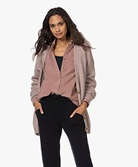by-bar Abby Mohair- Wool Mix Button-through Cardigan - Dusty Lilac