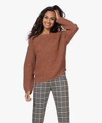 by-bar Milan Alpaca-wool Blend Chunky Knitted Sweater - Copper
