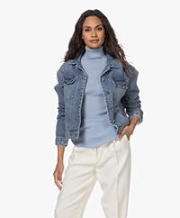Denham Rina Pleated Denim Jacket - Blue
