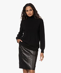 no man's land Cashmere Mix Turtleneck Sweater - Core Black