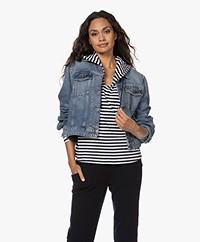 Drykorn Balham Cotton Denim Jacket - Ocean Blue
