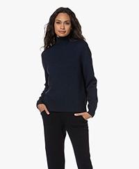 Sibin/Linnebjerg Cat Merino Wool Turtleneck Sweater - Navy