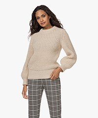 by-bar Loes Rib Knitted Wool Blend Sweater - Sand