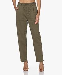Denham Jodie Lyocell Mix Twill Pants - Army Green