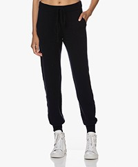 LaSalle Knitted Wool-Cashmere Jogger Pants - Navy