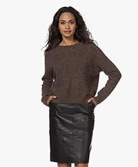 by-bar Liz Piura Round Neck Sweater - Brown