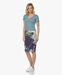 Kyra & Ko Annabel Scuba Jersey Skirt with Print - Ink