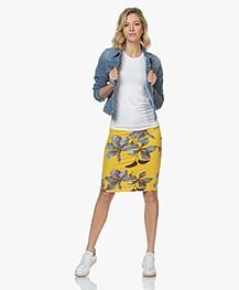 Majestic Filatures Alison T-shirt met Hoge Ronde Hals - Wit