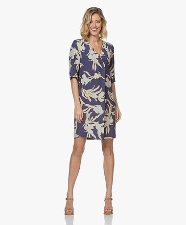 Kyra & Ko Ilona Tencel Floral Print Dress - Ink
