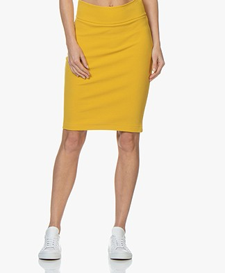 Kyra & Ko Claudia Crepe Jersey Pencil Skirt - Yellow