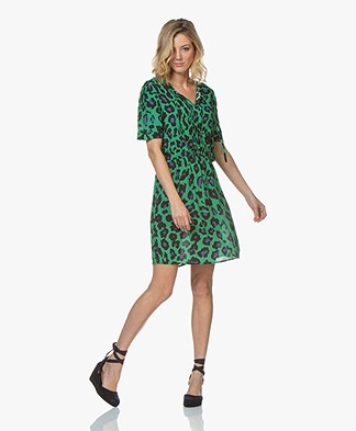 Josephine & Co Ciel Leopard Print Tunic Dress - Green