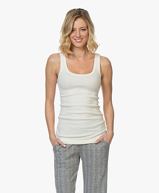 By Malene Birger Ribbed Tank Top Newdawn - Cream