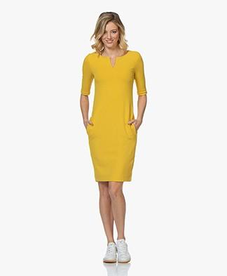 Kyra & Ko Alexis Crepe Jersey Dress - Yellow
