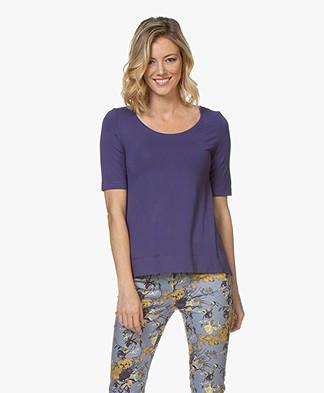 Kyra & Ko Hetta Jersey R-hals T-shirt - Ink