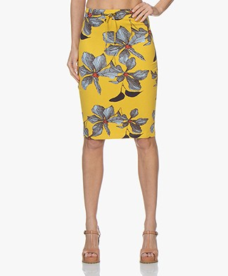 Kyra & Ko Marijn Jersey Printed Skirt - Yellow