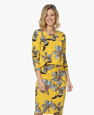 Kyra & Ko Mara Floral Printed Long Sleeve - Yellow