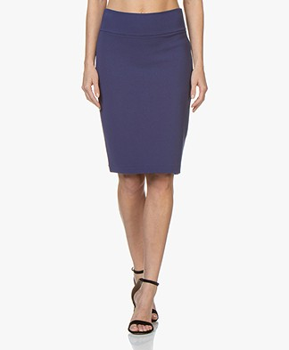 Kyra & Ko Claudia Crepe Jersey Pencil Skirt - Ink