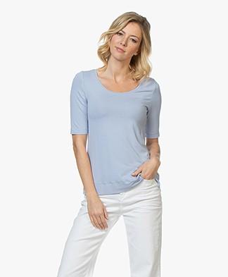 Kyra & Ko Hetta Jersey R-hals T-shirt - Blauw