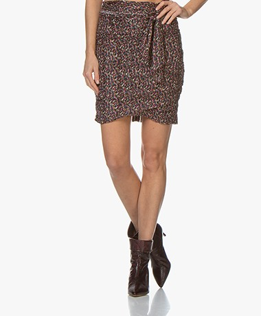 ba&sh Dina Silk Blend Print Skirt - Multi-color