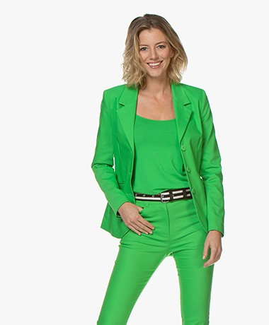 Kyra & Ko Julotte Getailleerde Blazer - Groen