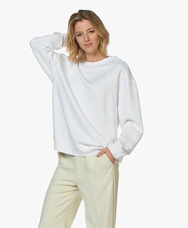 Filippa K Soft Sport Seam Oversized Sweatshirt - Wit