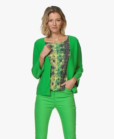 Kyra & Ko Charlot Short Knitted Cardigan - Green