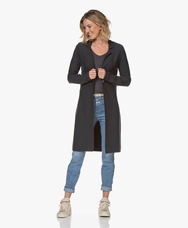 Kyra & Ko Dina Long Knitted Blazer Cardigan - Graphite