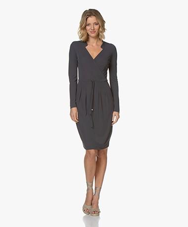Kyra & Ko Riva Jersey Drawstring Dress - Graphite