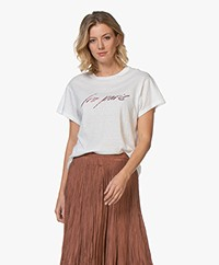 IRO Lyka Slub Jersey Logo T-Shirt - Wit