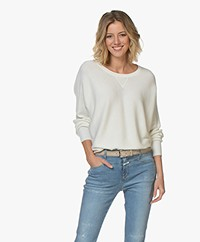 Filippa K Soft Sport Warm-up Cotton Blend Sweater - Off-white