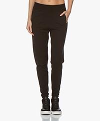 Sibin/Linnebjerg She Merino Knitted Pants - Black