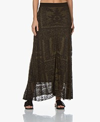By Malene Birger Tricea Jacquard Midi Skirt - Winter Moss