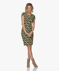 Kyra & Ko Avia Textured Jersey Print Dress - Desert