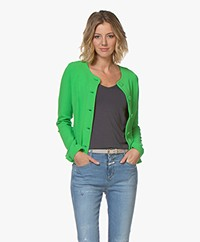 Kyra & Ko Cadence Crepe Jersey Blazer Cardigan - Green