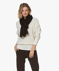 Repeat Pure Cashmere Scarf - Black