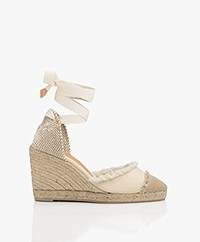 Castaner Catalina Canvas Wedge Espadrilles - Ivory