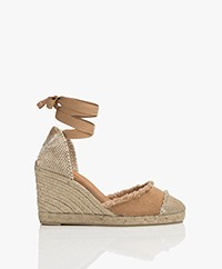 Castaner Catalina Canvas Wedge Espadrilles - Tostado