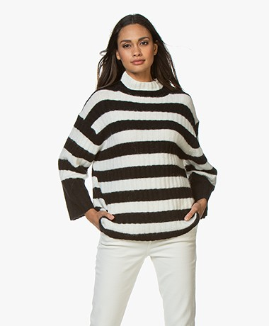 By Malene Birger Paprikano Striped Turtleneck Sweater - Soft White