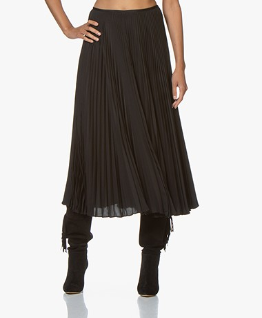 Joseph Abbot Pleated Midi Skirt - Black