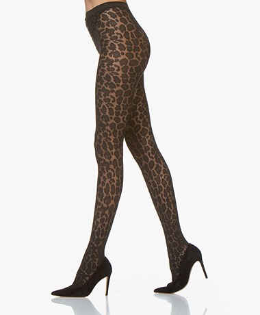 Wolford Leo Print Tights - Black