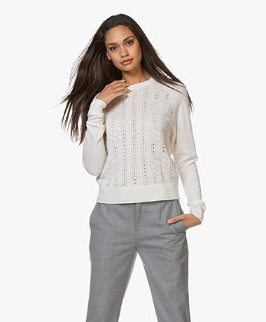 By Malene Birger Lucya Pointelle Sweater - Soft White