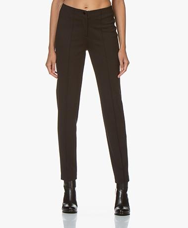 Repeat Ponte Jersey Viscosemix Pantalon - Zwart