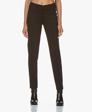 Repeat Ponte Jersey Viscose Blend Pants - Black
