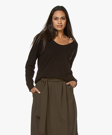 Denham Showa Scoop Neck Sweater - True Black