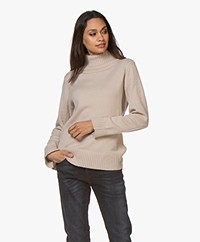 Josephine & Co Anton Merino Blend Turtleneck Sweater - Sand