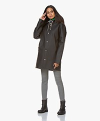 Stutterheim Mid-length Stockholm Raincoat - Black