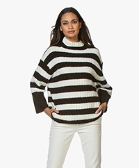 By Malene Birger Paprikano Gestreepte Coltrui - Soft White